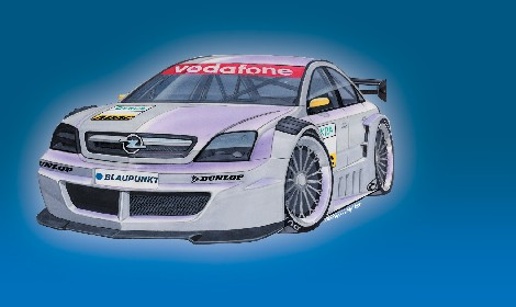 dtm opel vectra gts voor dtm 2004. Black Bedroom Furniture Sets. Home Design Ideas