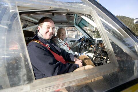 In de hot seat naast Stig Blomqvist