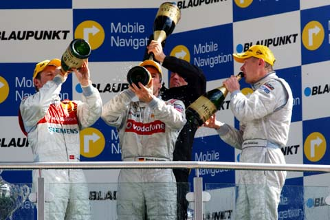 podium DTM
