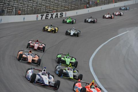 2013 Indycar Texas View