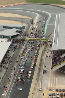 start grid from helicopter