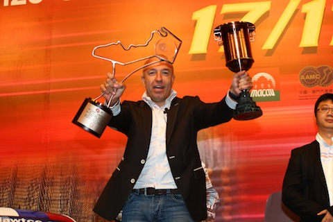 131213 WTCC Coronel Macau trophies