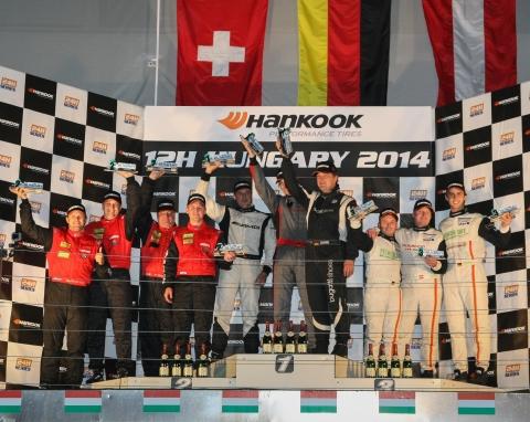Overall podium Hankook 12H HUNGARY 2014