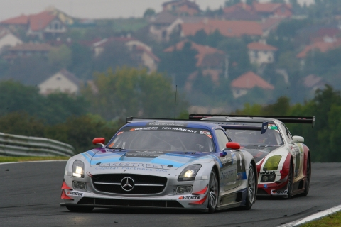P1 and P2 Mercedes at Hankook 12H HUNGARY