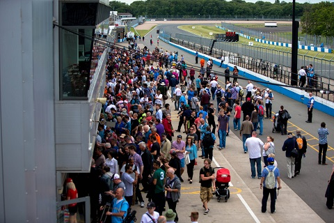 3. Crowds during the Formula E pitlane walk today