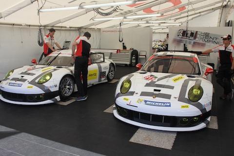 140314 USCC Sebring quali Porsches
