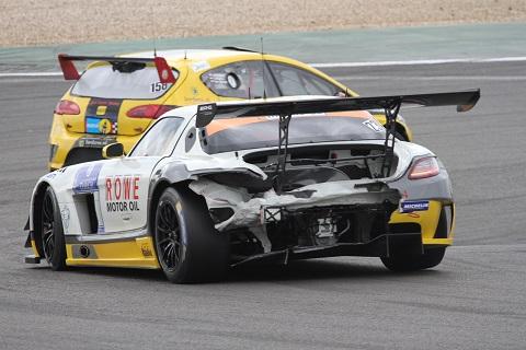 2014 Mercedes SLS crash