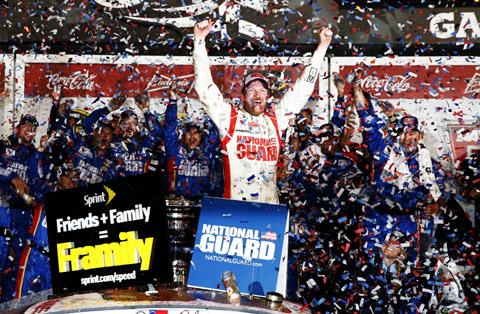 Dale Jr. Victory Lane Daytona 500