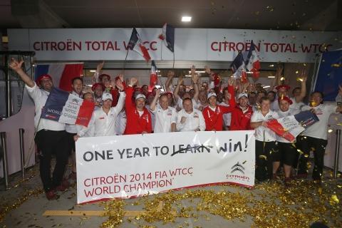 141012 WTCC Sjanghai R1 Citroen wereldkampioen