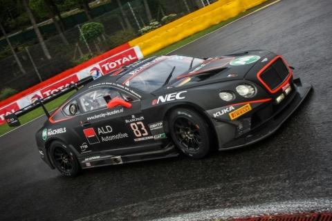 GT3.nl In de 24-uurs race van Spa maakt Max van Splunteren een prima indruk met de Bentley Continental GT3 150725