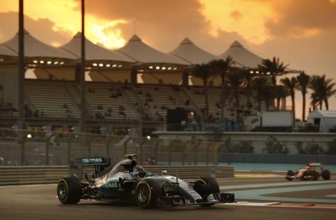 Rosberg zonsondergang