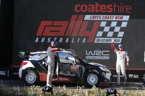 Meeke werd derde in Australie