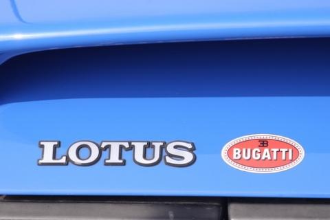 Bugatti Blauw op een Lotus dat is historie ooit was Lotus in Italiaanse handen