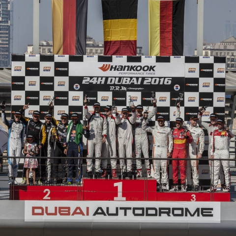 Overall podium Hankook 24H DUBAI 2016