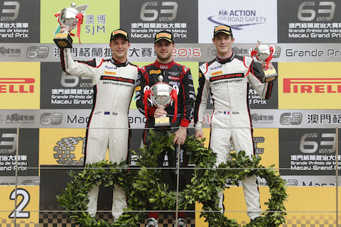 161118 FIA GT World Cup Macau Qualirace Podium