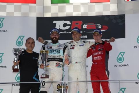 Sepang Race 1 podium