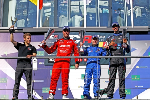 Spa Race 1 podium