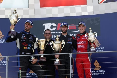 Singapore Race 2 podium