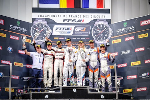 170930 GT4 R1 podium