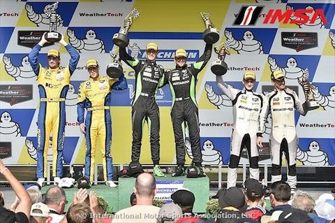 170828 IMSA Race GTD podium