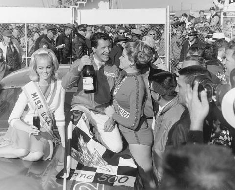 1967 mario andretti daytona 500 victory lane