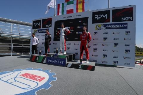 2017 Monza Race 1 podium