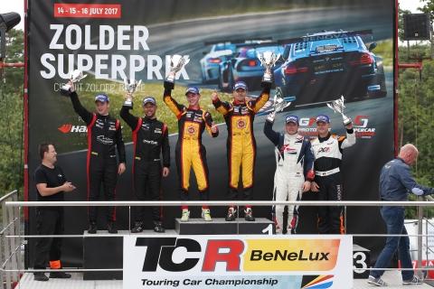 TCR Benelux - Zolder Superprix - Podium QLR
