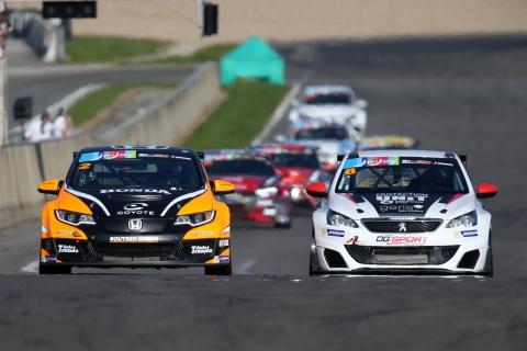 TCR Benelux - Honda Civic TCR Benjamin Lessenenes - Peugeot 308 Cup Aurélien Comte
