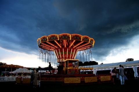 Donkere wolken en de regen die niet kwam op zaterdagavond
