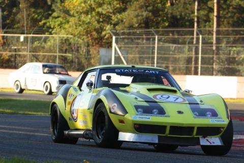 De gast vh weekend met een Corvette C3