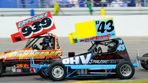 2018 Pinksterraces - Stockcar F2 junioren in actie