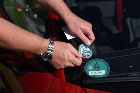 Autos Porsche Glockner sticker