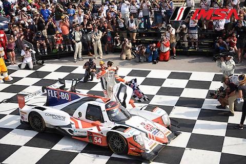 180806 IMSA race Core Podium