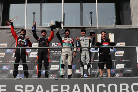 2018-2018 Spa Race 1---2018 TCR Europe Spa R1 podium