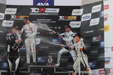 2018 Barcelona R2 podium
