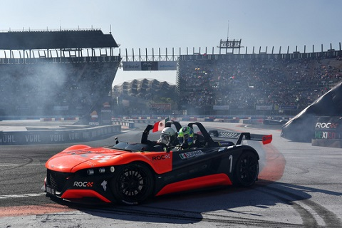 Winner Benito Guerra MEX celebrates during the Race of Champions on Sunday 20 January 2019 at Foro Sol Mexico City Mexico 1309