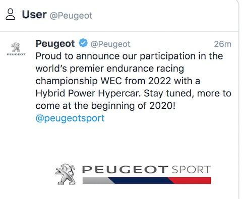 191113 Peugeot Twitter