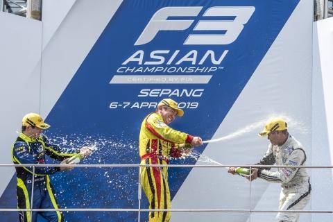AF3 Race 2 Masters Podium