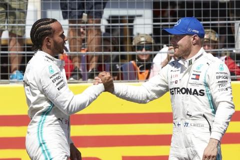 Lewis Hamilton en Vallteri Bottas