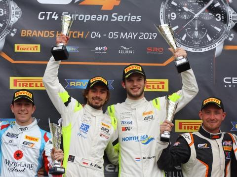 190505 Max Koebolt GT4 European Series Brands Hatch podium