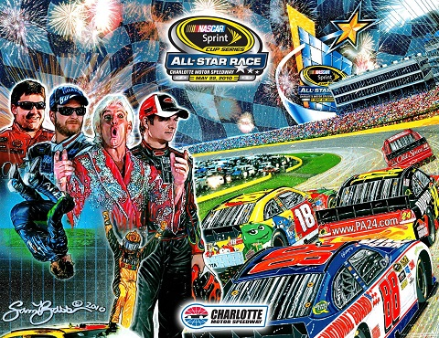 2010 charlotte may nscs sprint all-star race program cover artwork