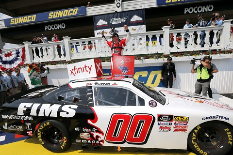 Cole Custer Pocono winnaar