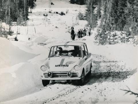1965 10 Maart Rally van Zweden Rob Slotemaker en Wim Loos
