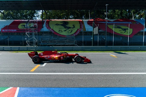 Leclerc Ferrari-tribune