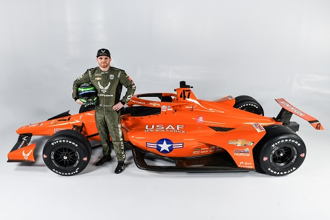 Conor Daly 47 US Air Force Chevrolet