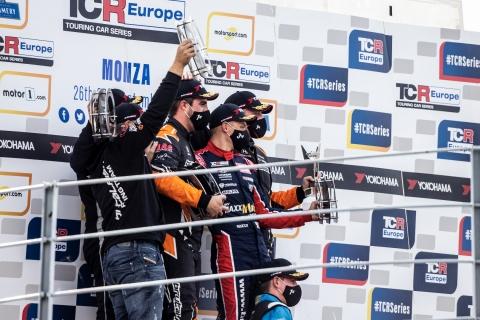 2020 TCR Europe Monza Race 2 podium