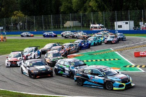 2020 TCR Europe Monza Race 2 start