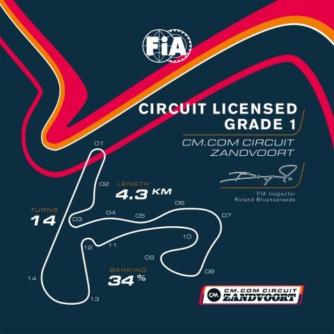 Persbericht - CM com Circuit Zandvoort - Grade 1 License
