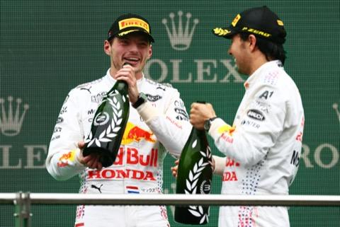 Red Bull podium