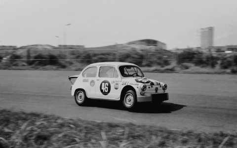 1968 Zandvoort Trophy Ab Goedemans Fiat Abarth 1000 Bos uit vergers